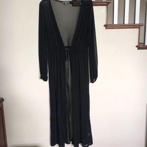Black Duster Cardigan